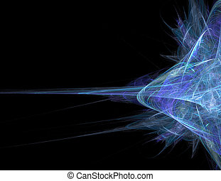 Funky Abstract Background - Abstract blue fractal artwork...