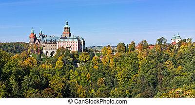 slott,  Ksiaz, Polen