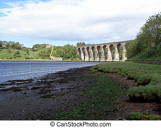 Royal Border Bridge - The Royal Border Bridge crossing the...