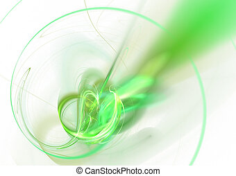 Abstract Green Twirl