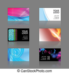 Business Cards Assortment - Assortment of 6 modern business...