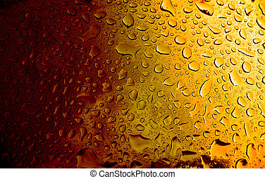 Amber Beer - A macro of some water condensation on a glass...