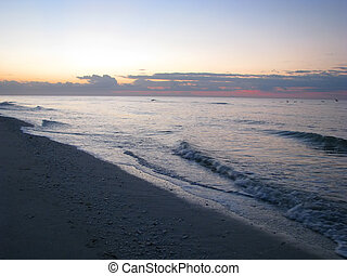 tropical beach sunrise - a beautiful sunrise on Sanibel...