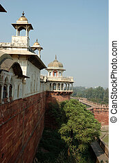 View from Agra fort wall,Uttar Pradesh,India
