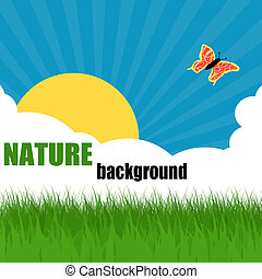 Nature ecology poster with space for your text, vector...