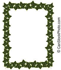 Ivy Border or Frame design - Ivy Image composition for...