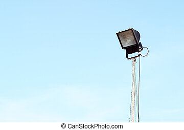 flood light with blue sky