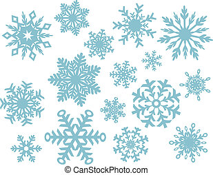 Winter Snowflake Collection - Vector snowflake designs.