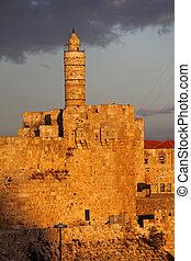 David's tower (citadel) - the old city of Jerusalem (Israel)