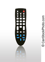 TV remote control with shadow