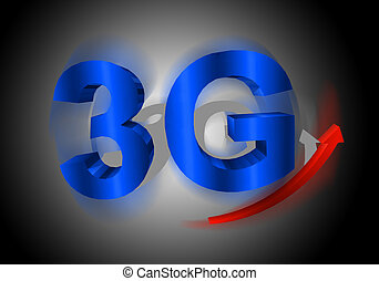 3G symbol with arrow