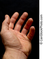 Hand reaching out in acceptance