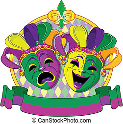 Mardi Gras Masks design - Mardi Gras Comedy and Tragedy...