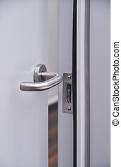 Door handle - Modern front door, chrome handle