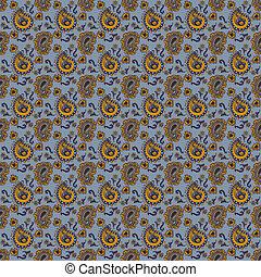 Seamless Paisley Pattern - Seamless paisley pattern in...