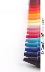 multi, Color, pastel(crayon), lápices, row(line),...
