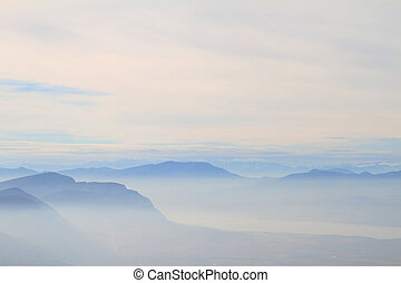 Scenic view of blue ridge mountains