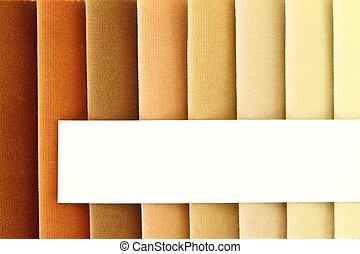 cor, fundo, tecido, Amostras