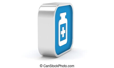 Pill Bottle Sign - Pill Bottle sign on a white background...