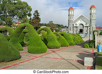 Zarcero garden - Beautiful French garden in Zarcero,Costa...