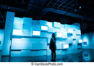 video wall in a exhibition room