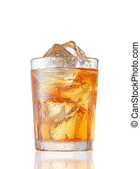 ice tea isolated on white