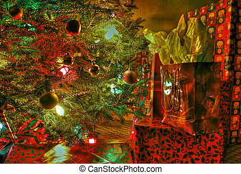 Under the tree 58 - Wraped gifts under a Christmas tree and...