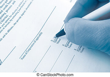 business signing - signing business banking statements for...