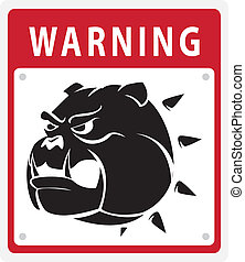 dog warning
