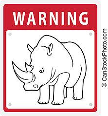 Rhino Warning Symbol