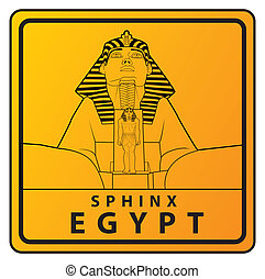 sphinx Travel sign - sphinx vector illustration