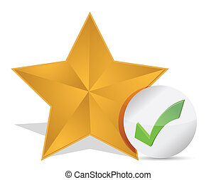 Star favorite sign web icon illustration design over white