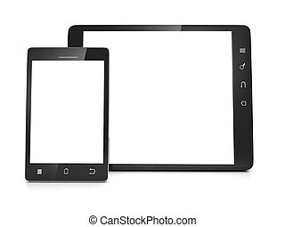 Mobile technology. The group of mobile devices, tablet...