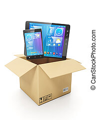 Buying a mobile of electronics. Mobile phone and tablet...