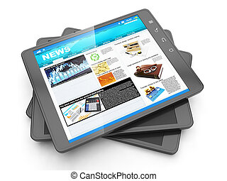 News from the internet, tablet PC and it fresh page navostey