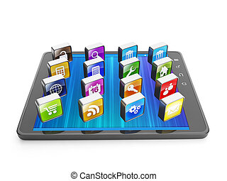 Creating mobile applications for mobile technology. Tablet...