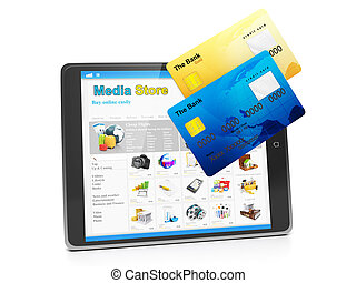 Tablet PC, payment for goods in the media store Tablet...