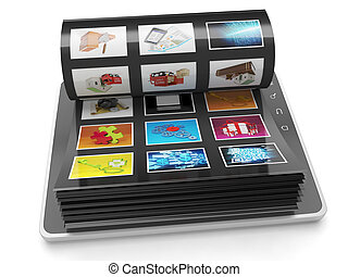 Image Gallery of the Tablet PC. Tablet PC sheets with images