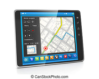 Mobile applications. Applications for Tablet PCs navigation...