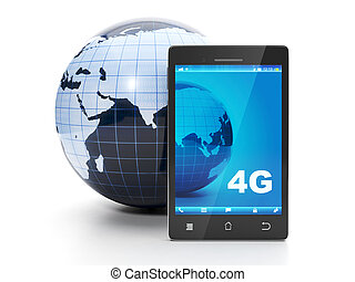 Land and mobile phone 4g speed internet in all the earth
