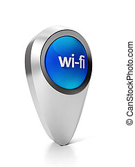 Most 3d icon pointer acceptance point wi-fi internet...