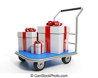 Send gifts Group gifts are on the trolley