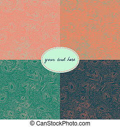 set of 4 paisley seamless backgrounds