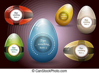 Easter eggs - vector collection