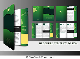 Template for brochure - Brochure template with front, back,...