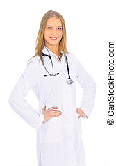 Attractive woman doctor.