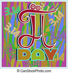 Pi day - illustration the Mathematical symbol standing on a...
