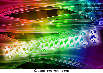 abstract rainbow background with glossy waves and spotlights
