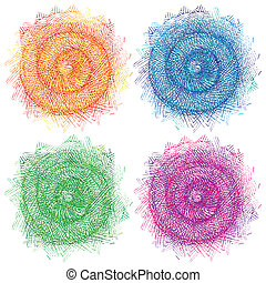 swirly illustration - abstract colorful swirly illustration...