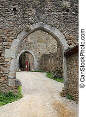 Entrance of a castle - Entrance of an ancient castle